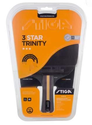Ракетка для настольного тенниса Stiga 3* Trinity Crystal, черная