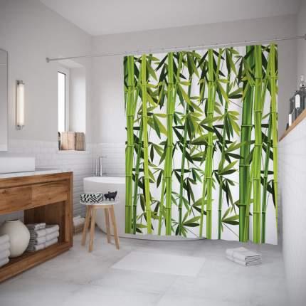 Шторка для ванной JoyArty «Бамбуковые сады» 180x200 см