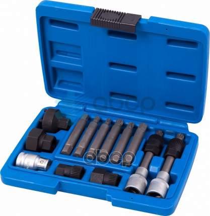 МАСТАК Набор спец головок и насадок для шкива генератора кейс 13 предметов 106-10013C
