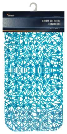 Коврик для ванной Вилина Паутинка 6916 72х35 см Голубой