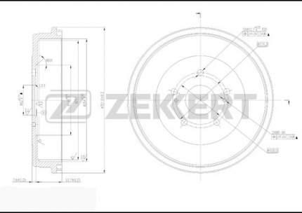 Тормозной барабан ZEKKERT BS-5188