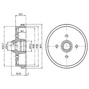 Тормозной барабан DELPHI BF96