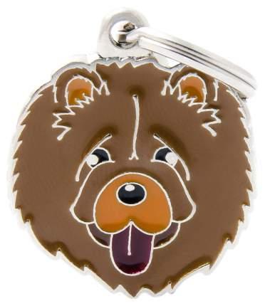 Адресник на ошейник для собак My Family Colors Чау-чау, средний, 2,7х2,7 см