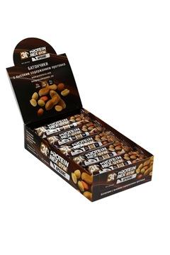 """Батончик с высоким содержанием протеина ProteinRex """"арахис"""", 15 шт по 60г"""