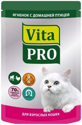 Влажный корм для кошек VitaPRO Мясное меню, домашняя птица, ягненок, 100г