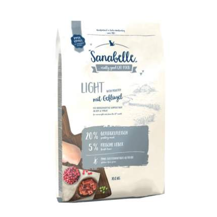 Сухой корм для кошек Bosch Sanabelle Light, низкокалорийный, домашняя птица, 10кг
