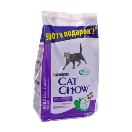 Сухой корм для кошек Cat Chow Special Care Hairball для выведения шерсти, птица, 2кг