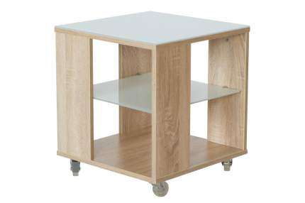 Журнальный столик Hoff Фиеста 722 80291769 45х45х49,5 см, дуб сонома/белый