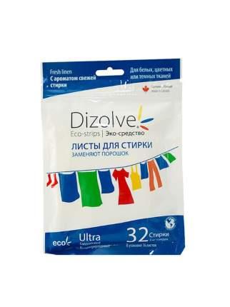 Листы для стирки  Dizolve с ароматом свежей стирки 32 стирки