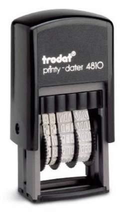 Датер Trodat Printy 4810 Рус. Высота шрифта: 3,8 мм. Шрифт: кириллица