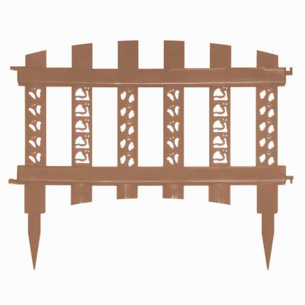 """Забор декор""""Палисадник""""св.коричневый"""