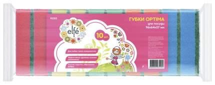 Губки для посуды Elfe optima 96 * 64 * 27 мм 10 шт