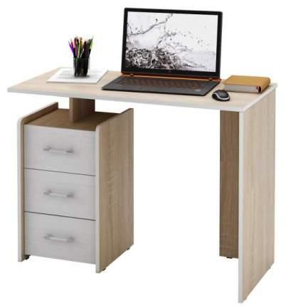 Стол компьютерный прямой МФ Мастер Слим-1 50x100x75, дуб сонома/белый