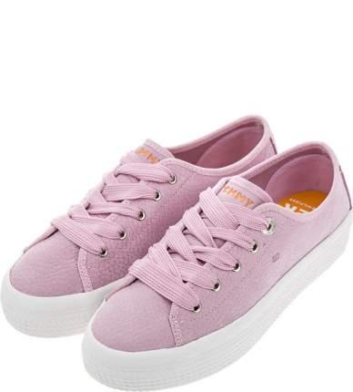 Женские  кеды Tommy Hilfiger FW0FW04090 518 pink lavender фиолетовые 41