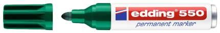 Перманентный маркер edding круглый наконечник, 3-4 мм зеленый