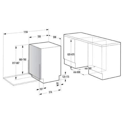 Встраиваемая посудомоечная машина 60 см Gorenje MGV6316