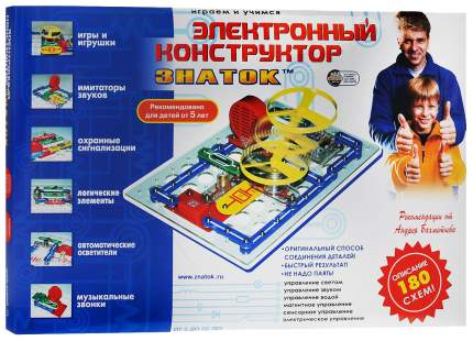 Конструктор электронный Знаток Играем и учимся 180 схем