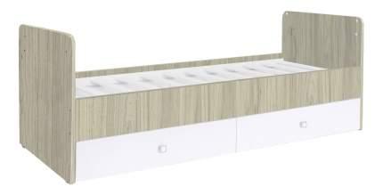 Кровать-трансформер Polini Simple 1100 белая/вяз