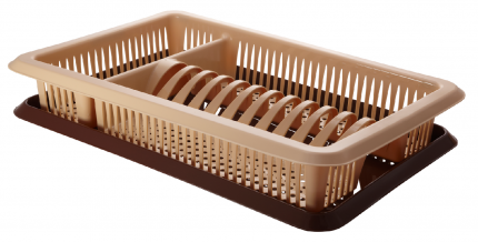 Сушилка для посуды Plastic Centre ПЦ1562БЖКЧ