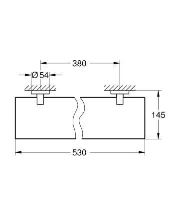 Полочка стеклянная GROHE Essentials 600 мм, хром