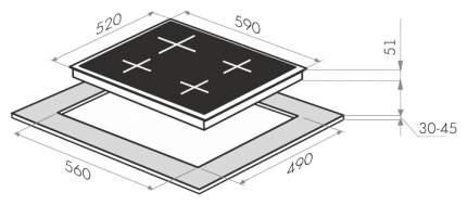 Встраиваемая варочная панель комбинированная MAUNFELD MEHE.64.98W White