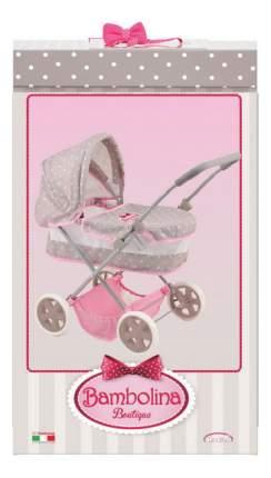 Коляска для куклы Dimian Bambolina Boutique классическая розовая