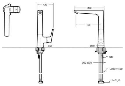 Смеситель для кухонной мойки BRAVAT Real F7121179CP-2-RUS хром
