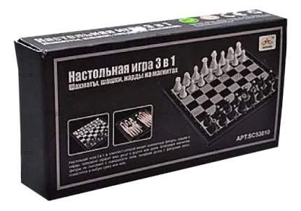 Настольная игра 3 в 1 магнитные Шахматы, Шашки и Нарды Shantou Gepai SC53810