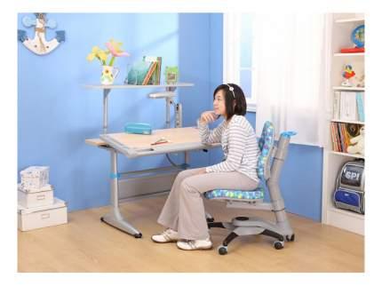 Парта детская Comf-Pro Tokyo с ящиком белый дуб/серый с синим
