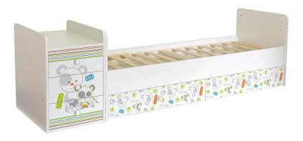 Кровать-трансформер Simple 1100 Панды белый Polini