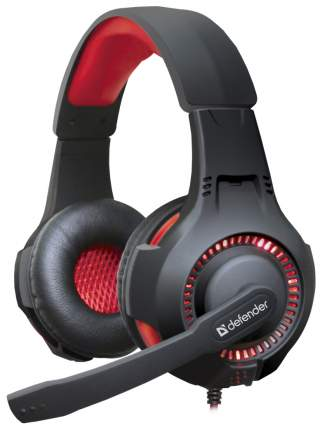 Игровые наушники Defender Warhead 64146 Red/Black