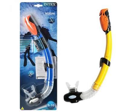 Трубка для снорклинга Intex Hyper Flow Jr 55923, 3-10 лет, желтый/синий/голубой