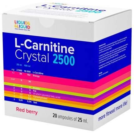 Liquid&Liquid L-Carnitine Crystal 2500, 1 ампула 25 мл, Red berry