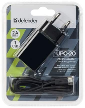 Сетевое зарядное устройство Defender UPC-20 1 USB 2A Black