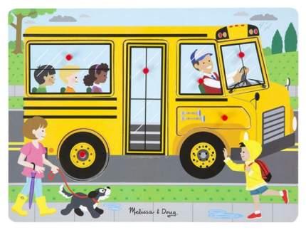 Melissa & Doug Пазл со звуком Автобус, арт. 739