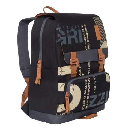 Рюкзак Grizzly RU-929-1 черный/серый 14 л