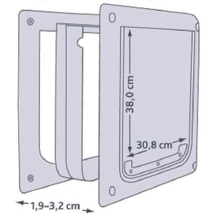 Дверца для собак TRIXIE, белая, M-XL, 30,8х38см