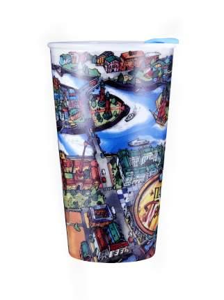 Термостакан керамический WOODSURF/ коллекция FACES&PLACES Парадный Петербург, 320 мл.