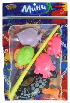 Игра пласт. рыбалка магнитная, 5 фигурок, МиниМаниЯ, РАС 23х15см, арт. М6169.