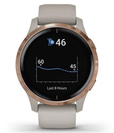 Спортивные наручные часы Garmin Venu Light Sand/Rose Gold