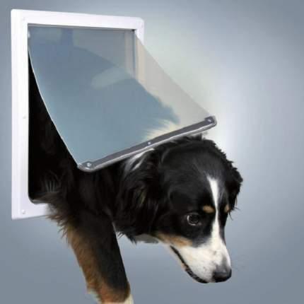 Дверца для собак Trixie 2 функции, 30,8*38,5 см, пластик, белый