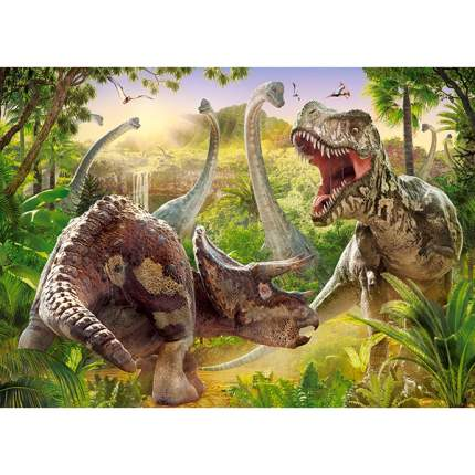 CASTORLAND Пазл Битва динозавров, 180 элемента B-018413