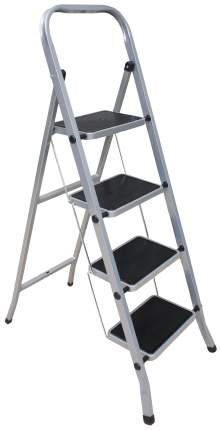 Стремянка стальная Zalger 511-4, 4 широкие ступени с ковриком