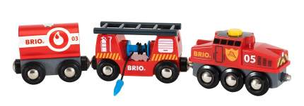 Набор железная дорога Brio Пожарный поезд 33844