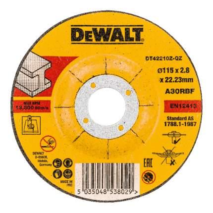 Диск отрезной абразивный по прочим материалам DeWALT DT42210Z-QZ