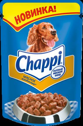 Влажный корм для собак Chappi, мясное изобилие, 100г