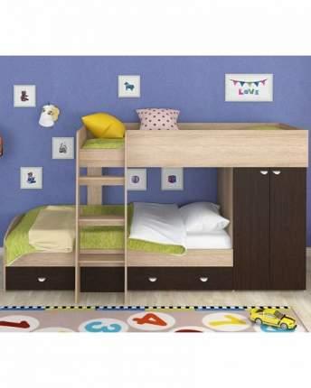 Двухъярусная кровать Golden Kids 2 дуб сонома/венге