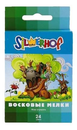 Восковые мелки Silwerhof В гостях у сказки 24 цвета