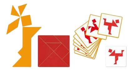 Семейная настольная игра Djeco Tangram