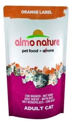 Сухой корм для кошек Almo Nature Orange Label, для стерилизованных, говядина, 0,105кг